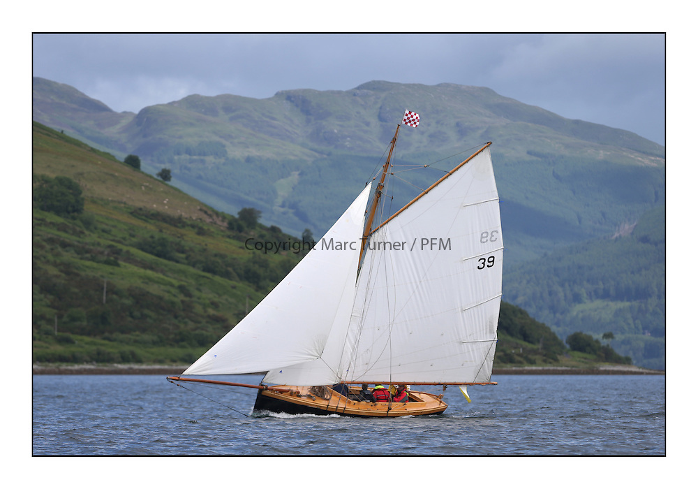 Day three of the Fife Regatta, Cruise up the Kyles of Bute to Tighnabruaich<br /> Ayrshire Lass, Paul Goss / Theo Rye, GBR, Gaff Cutter, Wm Fife 2nd, 1887<br /> <br /> * The William Fife designed Yachts return to the birthplace of these historic yachts, the Scotland's pre-eminent yacht designer and builder for the 4th Fife Regatta on the Clyde 28th June–5th July 2013<br /> <br /> More information is available on the website: www.fiferegatta.com