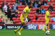 AFC Wimbledon defender Darius Charles (32) in action during the EFL Sky Bet League 1 match between Charlton Athletic and AFC Wimbledon at The Valley, London, England on 17 September 2016. Photo by Stuart Butcher.