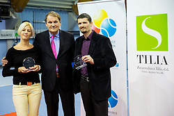 at Tennis exhibition day and Slovenian Tennis personality of the year 2013 annual awards presented by Slovene Tennis Association TZS, on December 21, 2013 in BTC City, TC Millenium, Ljubljana, Slovenia.  Photo by Vid Ponikvar / Sportida