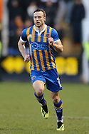 Shrewsbury Town's Shaun Whalley during the The FA Cup fourth round match between Shrewsbury Town and Wolverhampton Wanderers at Greenhous Meadow, Shrewsbury, England on 26 January 2019.