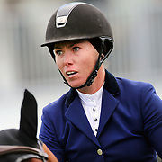 NORTH SALEM, NEW YORK - May 15: Adrienne Iverson, Canada, riding Donar R, in action during The $50,000 Old Salem Farm Grand Prix presented by The Kincade Group at the Old Salem Farm Spring Horse Show on May 15, 2016 in North Salem. (Photo by Tim Clayton/Corbis via Getty Images)