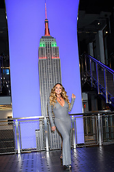 """Mariah Carey Lights The Empire State Building In Celebration Of The 25th Anniversary Of """"All I Want For Christmas Is You"""" Empire State Building, NY. 17 Dec 2019 Pictured: Mariah Carey. Photo credit: RCF / MEGA TheMegaAgency.com +1 888 505 6342"""