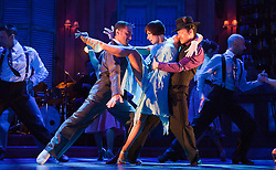 "© Licensed to London News Pictures. 30/01/2012. London, England. L-R: Vincent Simone, Flavia Cacace and Giraldo Diomar. ""Midnight Tango"" with ""Strictly Come Dancing"" Stars Flavia Cacace and Vincent Simone opens at the Aldwych Theatre, London. Photo credit: Bettina Strenske/LNP"