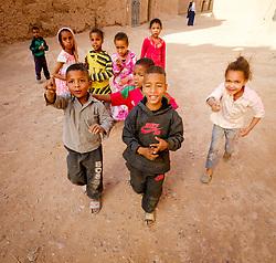 Children in a small village in southern Morocco near Mhamid<br /> <br /> (c) Andrew Wilson | Edinburgh Elite media
