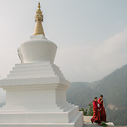 The Sangchhen Dorji Lhuendrup Nunnery is perched on a hilltop overlooking the Punakha valley and Wangduephodrang valley. The nunnery has several hundred women staying and studying the principles of buddhism.