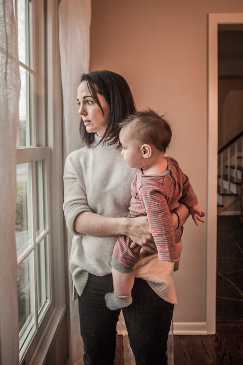 Quannah with her son Sawyer, Edina, Minnesota