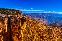 Balancing Rock at the Copper Canyon overlook at Divisadero, Mexico