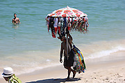 February 29, 2016 - Rio De Janeiro, BRAZIL - <br /> <br /> Rio de Janeiro, Brazil, 27 February 2016: Rio de Janeiro has some of the busiest beaches in Brazil. One of the most popular is the Leblon beach, which is located in the south of the city next to Ipanema Beach. During the weekends in the summer, where temperatures exceed 35 degrees Celsius the place is crowded with bathers. Also, the boardwalk is also filled with people enjoying the warmth. To get thousands of people, the local government increases policing on beaches and beach access. In the sand are mounted metal structures used by police as observation points. <br /> ©Exclusivepix Media