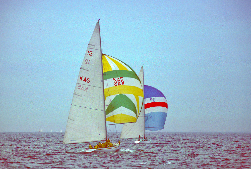 1977<br /> Ted Turner defends the America's Cup
