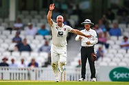 Wicket! Darren Stevens of Kent celebrates bowling out Rikki Clarke of Surrey caught Ollie Robinson of Kent during the Specsavers County Champ Div 1 match between Surrey County Cricket Club and Kent County Cricket Club at the Kia Oval, Kennington, United Kingdom on 10 July 2019.
