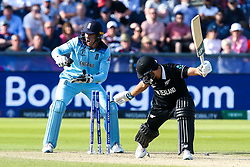 Jos Buttler of England stumps Trent Boult of New Zealand to win the game and seal a semi-final place in the Cricket World Cup - Mandatory by-line: Robbie Stephenson/JMP - 03/07/2019 - CRICKET - Emirates Riverside - Chester-le-Street, England - England v New Zealand - ICC Cricket World Cup 2019 - Group Stage