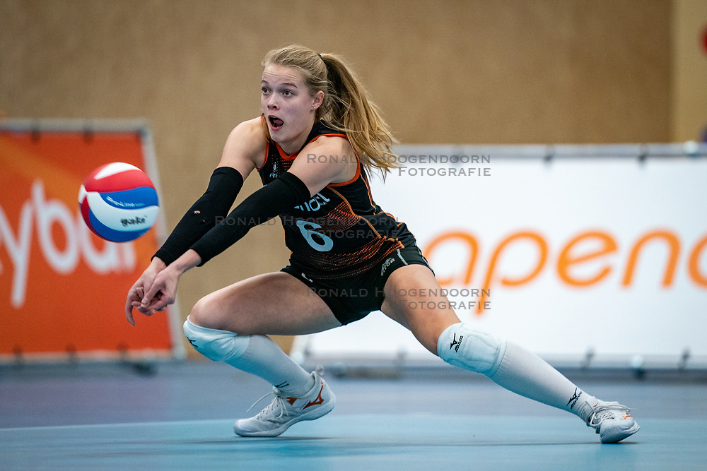 Iris Vos of Talent Team in action during the league match Talentteam Papendal vs.  Eurosped on January 23, 2021 in Ede.