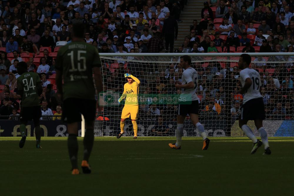 5 August 2017 -  Pre-Season Friendly - Tottenham Hotspur v Juventus - Tottenham Hotspur goalkeeper Hugo Lloris shields hie eyes against the sunlight - Photo: Marc Atkins / Offside.