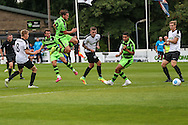 Forest Green Rovers Matt Tubbs (20) shoots at goal during the Vanarama National League match between Dover Athletic and Forest Green Rovers at Crabble Athletic Ground, Dover, United Kingdom on 10 September 2016. Photo by Shane Healey.