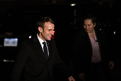 London, UK. 3 December, 2019. Emmanuel Macron, President of France, leaves following a reception for NATO leaders at 10 Downing Street on the eve of the military alliance's 70th anniversary summit at a luxury hotel near Watford.