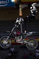 Australian Fmx rider Tom Robinson during qualifying Red Bull X-Fighters 2016 at Madrid. 22,06,2016. (ALTERPHOTOS/Rodrigo Jimenez)
