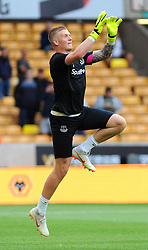 Jordan Pickford of Everton warms up- Mandatory by-line: Nizaam Jones/JMP - 11/08/2018/ - FOOTBALL -Molineux  - Wolverhampton, England - Wolverhampton Wanderers v Everton - Premier League