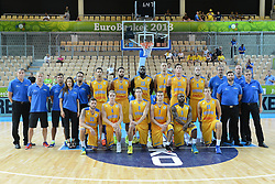 04.09.2013, Arena Bonifka, Koper, SLO, Eurobasket EM 2013, Schweden vs Griechenland, im Bild Team Sweden // during Eurobasket EM 2013 match between Sweden and Greece at Arena Bonifka in Koper, Slowenia on 2013/09/04. EXPA Pictures © 2013, PhotoCredit: EXPA/ Sportida/ Matic Klansek Velej<br /> <br /> ***** ATTENTION - OUT OF SLO *****