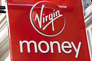 Sign outside a Virgin Money store.