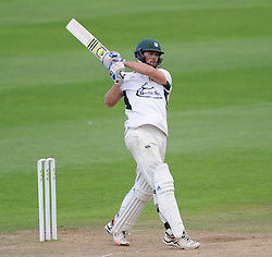 Worcestershire's Ross Whitelley pulls towards the boundary during his innings. - Mandatory byline: Alex Davidson/JMP - 07966386802 - 23/08/2015 - Cricket - County Ground -Taunton,England - Somerset CCC v Worcestershire CCC - LV= County Championship Division One - Day 3