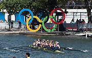 "Rio de Janeiro. BRAZIL.  GBR W8+,  Women's 8's Final. 2016 Olympic Rowing Regatta. Lagoa Stadium,<br /> Copacabana,  ""Olympic Summer Games""<br /> Rodrigo de Freitas Lagoon, Lagoa.   Saturday  13/08/2016 <br /> <br /> [Mandatory Credit; Peter SPURRIER/Intersport Images]"