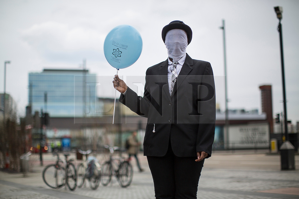 © licensed to London News Pictures. London, UK 28/04/2013. Sarah Okorcha posing with her costume as cosplayers and science fiction fans gathering for Sci-Fi Parade in Stratford, London on Sunday, 28 April 2013. Photo credit: Tolga Akmen/LNP