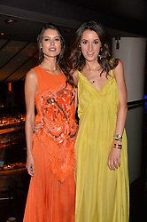 Sarah Ann Macklin and Rosanna Falconer at the Quaglino's Q Legends Summer Launch Party hosted by Henry Conway at Quaglino's, 16 Bury Street, London England. 18 July 2017.
