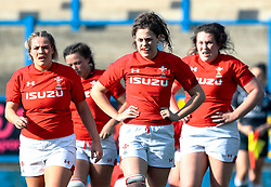 Wales players looking dejected after England score<br /> <br /> Photographer Simon King/Replay Images<br /> <br /> Six Nations Round 3 - Wales Women v England Women - Sunday 24th February 2019 - Cardiff Arms Park - Cardiff<br /> <br /> World Copyright © Replay Images . All rights reserved. info@replayimages.co.uk - http://replayimages.co.uk