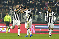 Esultanza Leonardo Bonucci Juventus dopo gol, goal celebration,<br /> Torino 07-02-2015, Juventus Stadium, Football Calcio 2014/2015 Serie A, Juventus - Milan, Foto Filippo Alfero/Insidefoto