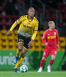 Ayo Simon Okosun (AC Horsens) under kampen i 3F Superligaen mellem FC Nordsjælland og AC Horsens den 19. februar 2020 i Right to Dream Park, Farum (Foto: Claus Birch).