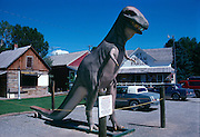 Allosaurus outside the Old Trail Museum in Choteau, Montana.