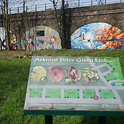 'Endangered 13' live paintings of animals at Ackroyd Drive Tower Hamlets, London