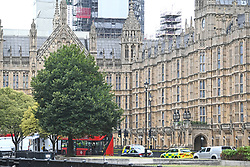 Police activity near the Houses of Parliament, Westminster in central London, after a car crashed into security barriers outside the Houses of Parliament.