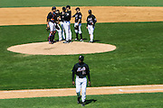 Shea Stadium. Flushing, New York. United States. May 5th 2005..The New York Mets during the game against the Phillies.