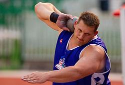 Miro Vodovnik during shot put at Slovenian National Championships in athletics 2010, on July 17, 2010 in Velenje, Slovenia. (Photo by Vid Ponikvar / Sportida)