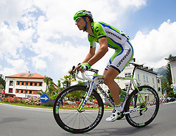 02.07.2013, Osttirol, AUT, 65. Oesterreich Rundfahrt, 3. Etappe, Heiligenblut - Matrei in Osttirol, im Bild Maciej Paterski (POL, Cannondale Pro Cycling) // during the 65 th Tour of Austria, Stage 3, from Heiligenblut to Matrei, Tyrol, Austria on 2013/07/02. EXPA Pictures © 2013, PhotoCredit: EXPA/ Johann Groder