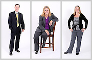 Portrait shoot of employees for Blue Ridge Bank in Charlottesville, VA. Photo/Andrew Shurtleff