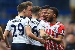 19 March 2017 - Premier League - Tottenham Hotspur v Southampton - Harry Winks and Kieran Trippier of Tottenham Hotspur clash with Sofiane Boufal and Ryan Bertrand of Southampton - Photo: Marc Atkins / Offside.