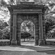 The McClellan Gate at Arlington National Cemetery.