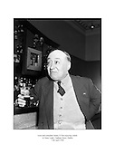 Actor and comedian Jimmy O'Dea enjoying a drink in Neary's pub, Chatham Street, Dublin.<br /> <br /> 11th April 1958<br /> <br /> 11.04.1958