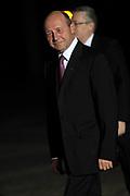 Koning Willem Alexander en Koningin Maxima ontvangen  de delegatieleiders van de Nuclear Security Summit (NSS) voor een diner op Paleis Huis Ten Bosch in Den Haag.<br /> <br /> King Willem Alexander and Queen Maxima receive the heads of delegation of the Nuclear Security Summit (NSS) for a dinner at the palace Huis Ten Bosch in The Hague.<br /> <br /> Op de foto / On the photo:  Roemeense president Traian Basescu