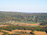 Aerial view of Sauk County, Wisconsin and the Devil's Head Ski Resort near Baraboo, Wisconsin.