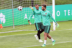 May 30, 2018 - Lisbon, Portugal - Portugal's goalkeeper Rui Patricio (R ) and Portugal's goalkeeper Beto (L) in action during a training session at Cidade do Futebol (Football City) training camp in Oeiras, outskirts of Lisbon, on May 30, 2018, ahead of the FIFA World Cup Russia 2018 preparation matches against Belgium and Algeria...........during the Portuguese League football match Sporting CP vs Vitoria Guimaraes at Alvadade stadium in Lisbon on March 5, 2017. Photo: Pedro Fiuzaduring the Portugal Cup Final football match CD Aves vs Sporting CP at the Jamor stadium in Oeiras, outskirts of Lisbon, on May 20, 2015. (Credit Image: © Pedro Fiuza/NurPhoto via ZUMA Press)
