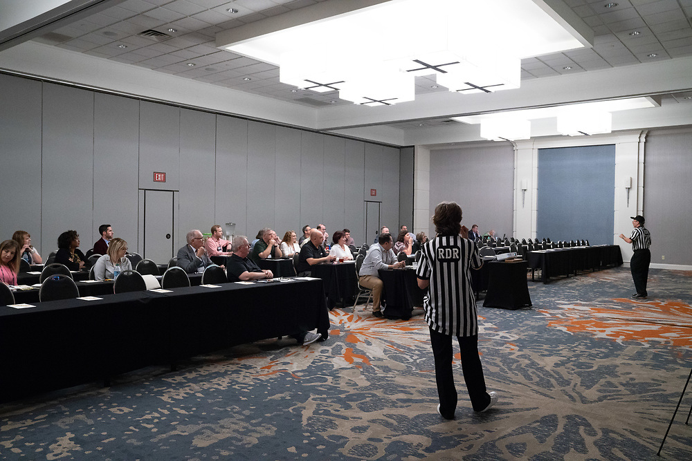 Revenue Development Resources team engages their audience at the Arkansas Broadcasters Association annual conference in downtown Little Rock, AR. Images by Arkansas commercial photographer, Alex Kent