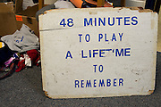 For years players have kept this sign in their locker room both at home and away games as a reminder of their goals  in Stephenville, Texas on November 5, 2013. (Cooper Neill / for The New York Times)