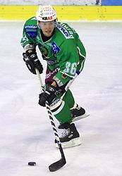 Pasi Petrilainen at 39th Round of EBEL League ice hockey match between HDD Tilia Olimpija and HK Acroni Jesenice, on December 30, 2008, in Arena Tivoli, Ljubljana, Slovenia. Tilia Olimpija won 4:3. (Photo by Vid Ponikvar / SportIda).