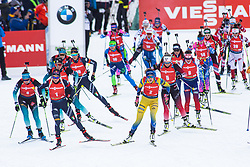 Dorothea Wierer (ITA), Hanna Oeberg (SWE) during the Mass Start Women 12,5 km at day 4 of IBU Biathlon World Cup 2019/20 Pokljuka, on January 23, 2020 in Rudno polje, Pokljuka, Pokljuka, Slovenia. Photo by Peter Podobnik / Sportida