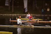 Bled, Slovenia, YUGOSLAVIA.  DDR M1X. Thomas LANGE 1989 World Rowing Championships, Lake Bled. [Mandatory Credit. Peter Spurrier/Intersport Images]
