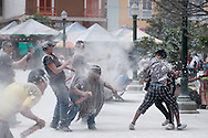 During the battles of the day of the whites, when they come into play talcum powder and flour