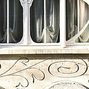 June 2018: Fécamp, Normandie, detail of the villa Emilie.